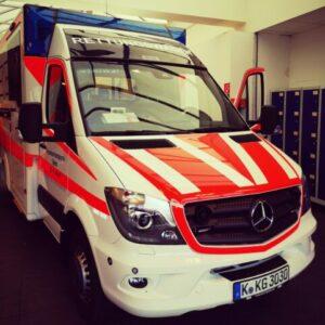 Krankenwagen für Notfallrettung in Köln